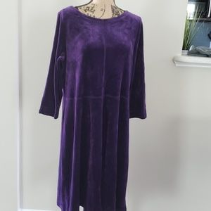 Talbots velour dress